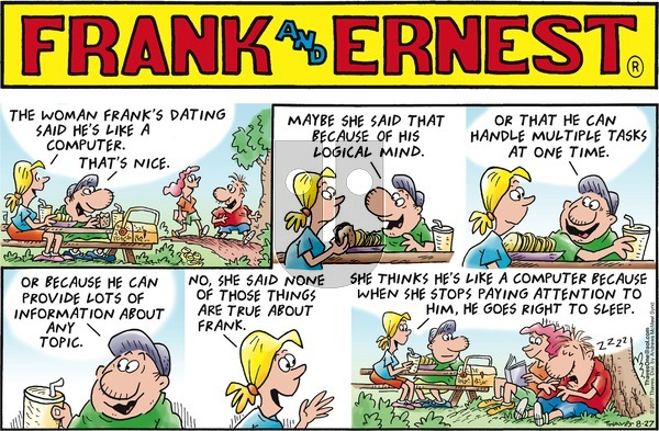 Frank and Ernest on Monday October 9, 2017 Comic Strip