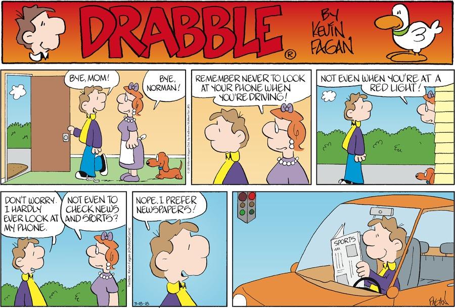 Drabble for Mar 18, 2018 Comic Strip