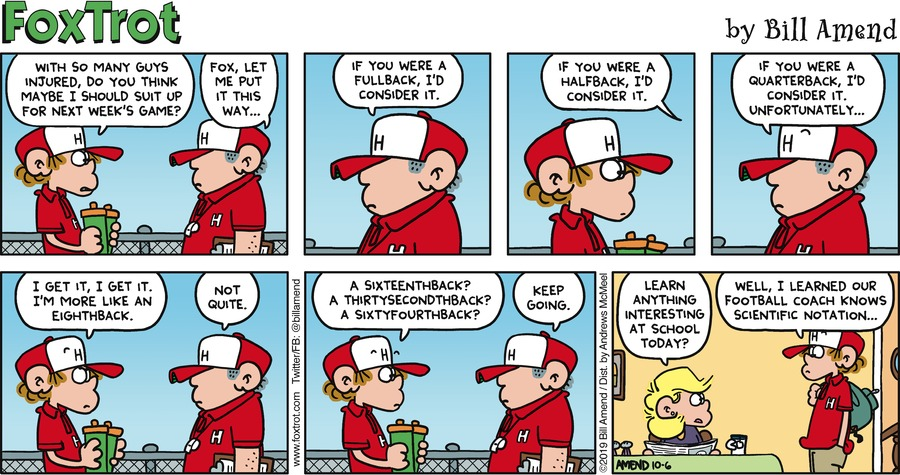 FoxTrot Comic Strip for October 06, 2019