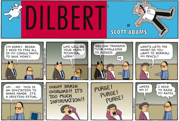 Dilbert on Sunday June 3, 2001 Comic Strip