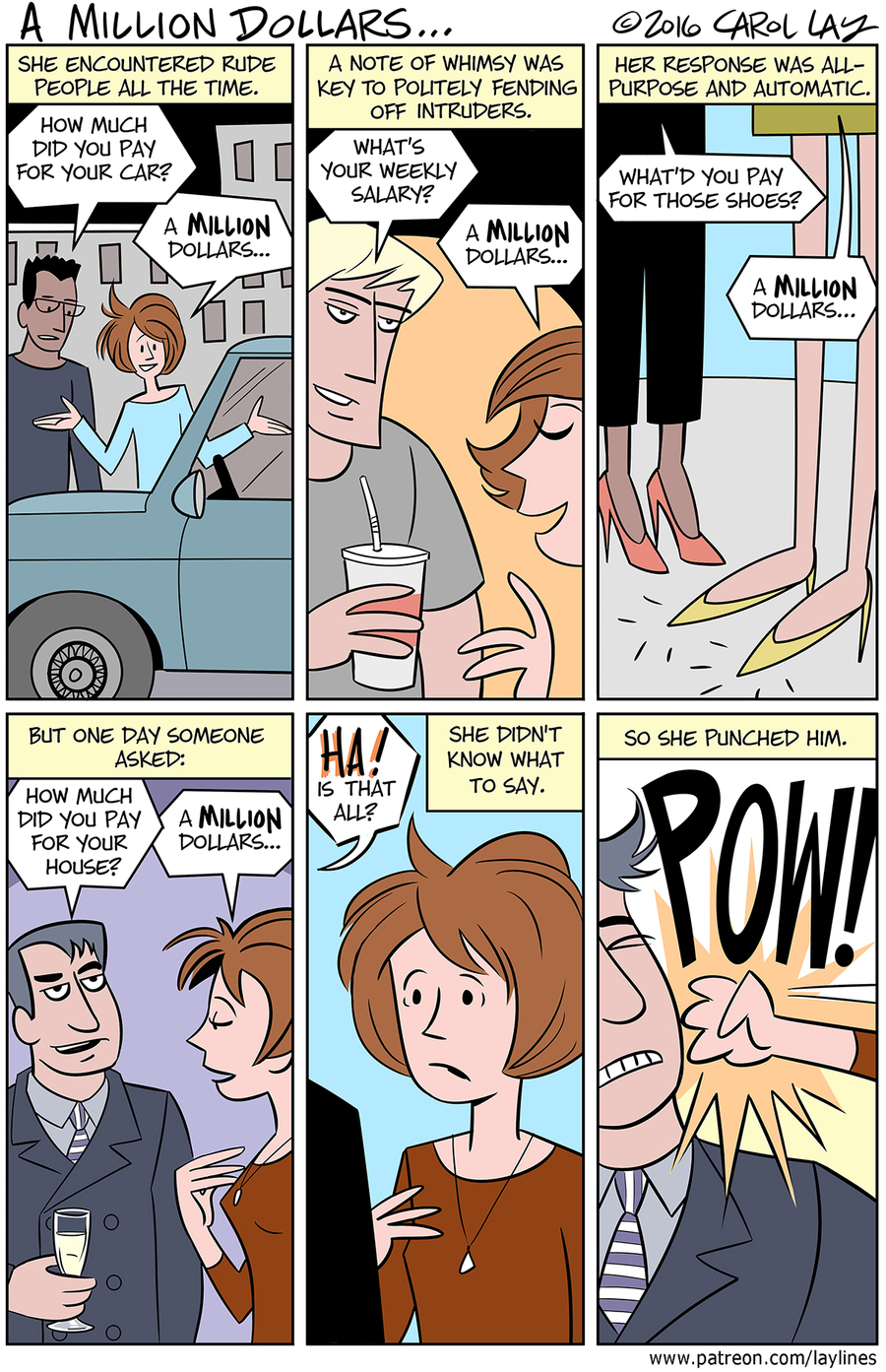 Lay Lines Comic Strip for October 19, 2016