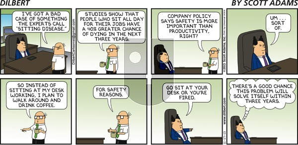 Dilbert on Sunday November 17, 2013 Comic Strip