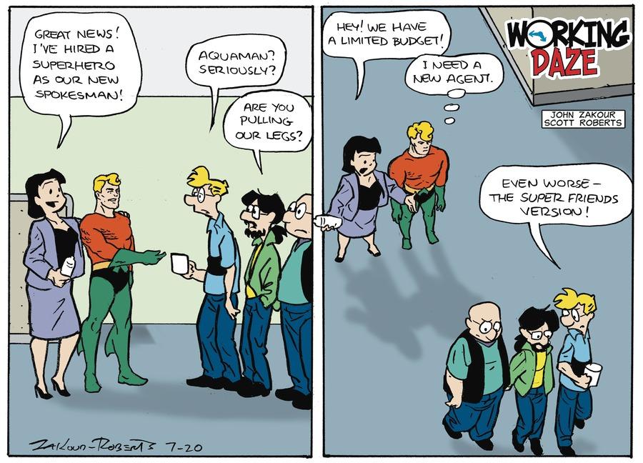Working Daze Comic Strip for July 20, 2014