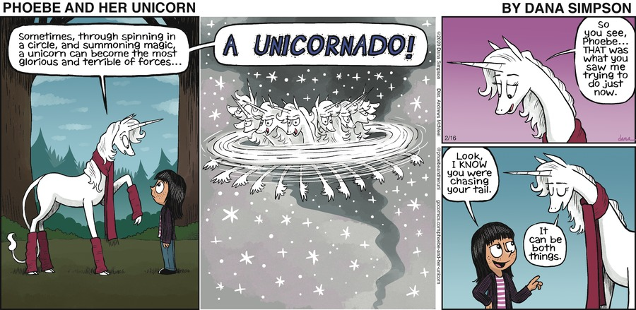 Phoebe and Her Unicorn Comic Strip for February 16, 2020