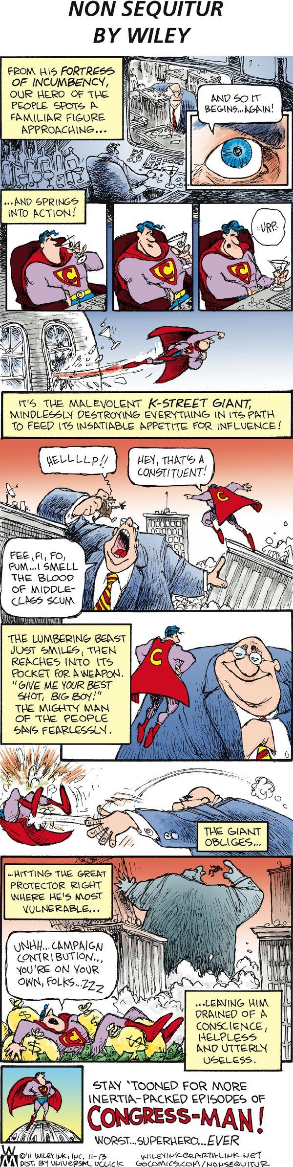 Non Sequitur for Nov 13, 2011 Comic Strip