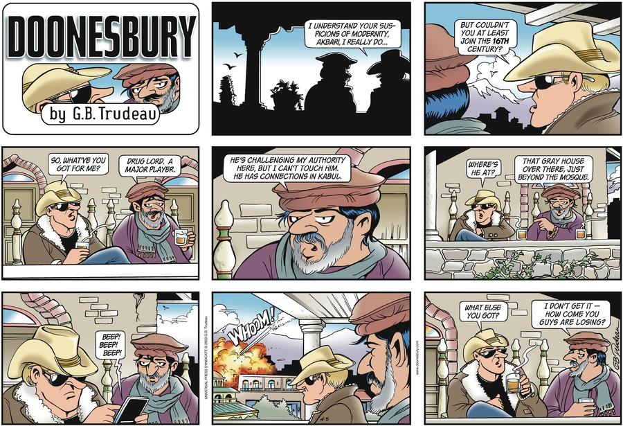 Doonesbury Comic Strip for April 05, 2009