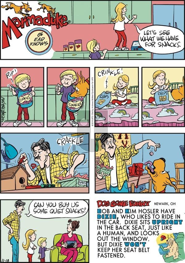 Marmaduke on November 18, 2018 Comic Strip