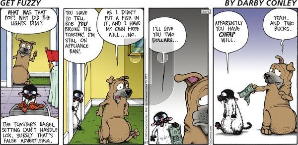 Get Fuzzy on Sunday September 7, 2014 Comic Strip