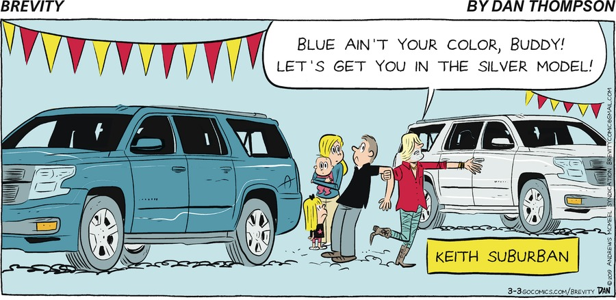 Brevity by Dan Thompson for March 03, 2019
