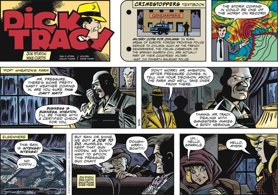 Dick Tracy Comic Strip for September 08, 2013