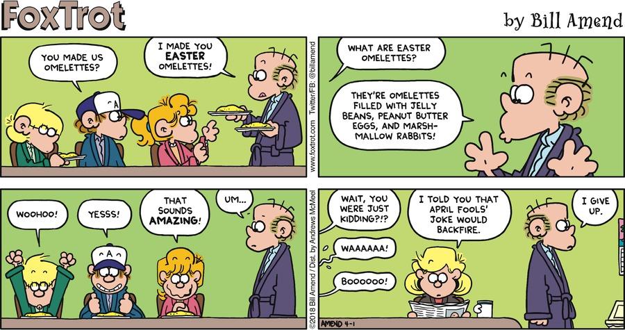 FoxTrot Comic Strip for April 01, 2018
