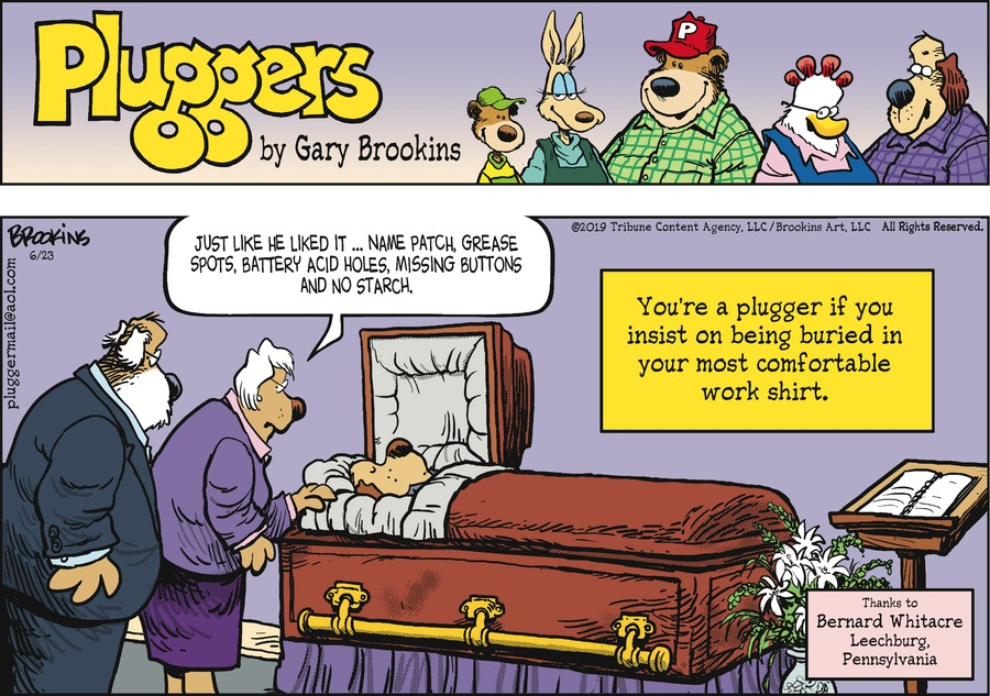 Pluggers Comic Strip for June 23, 2019