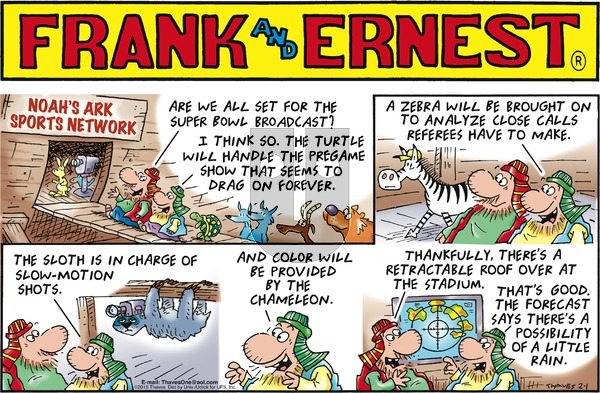 Frank and Ernest - Sunday February 1, 2015 Comic Strip