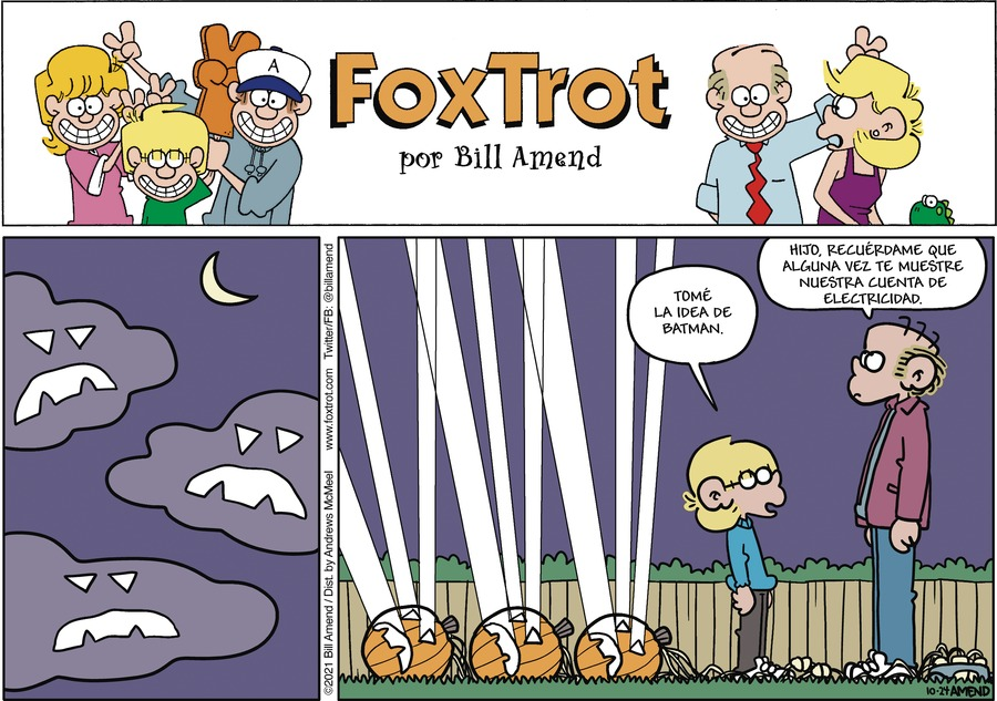 FoxTrot en Español by Bill Amend on Sun, 24 Oct 2021