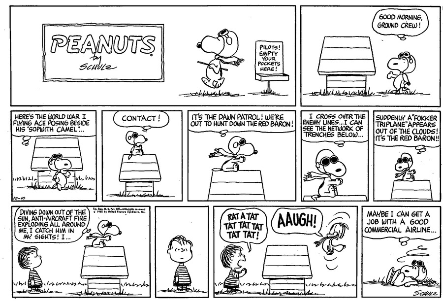 Peanuts Comic Strip for October 10, 1965