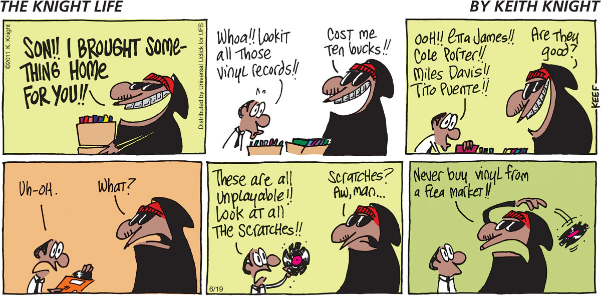 The Knight Life Comic Strip for June 19, 2011