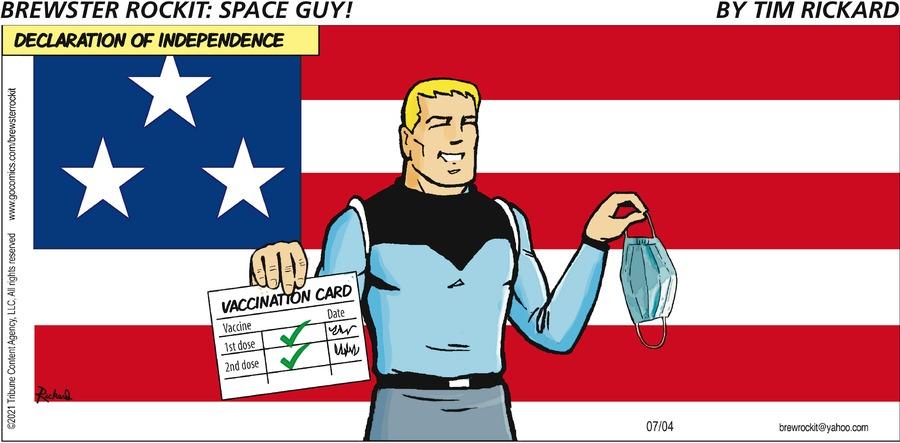 Brewster Rockit Comic Strip for July 04, 2021