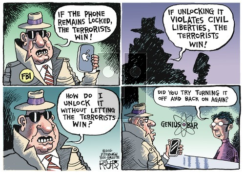 Rob Rogers on Sunday February 21, 2016 Comic Strip