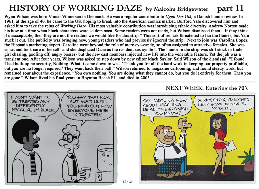 Working Daze Comic Strip for December 01, 2013