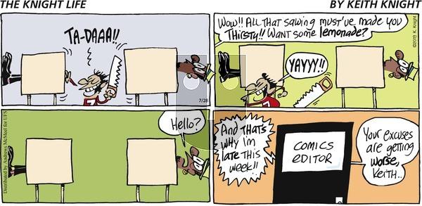The Knight Life on Sunday July 28, 2019 Comic Strip