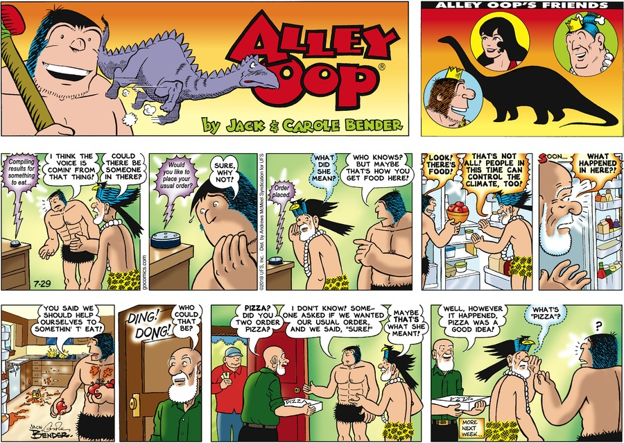 Alley Oop for Jul 29, 2018 Comic Strip