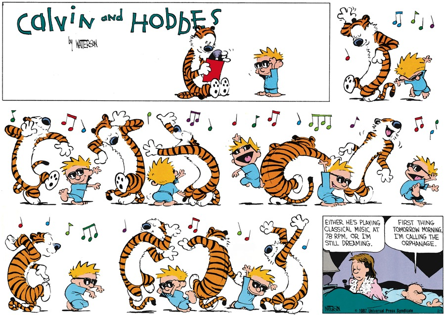 Calvin and Hobbes Comic Strip for January 12, 1992