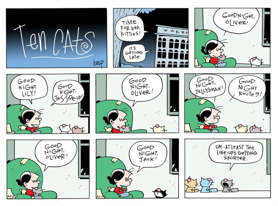 Ten Cats Comic Strip for April 14, 2019
