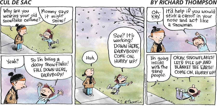 Cul de Sac for Jan 17, 2010 Comic Strip