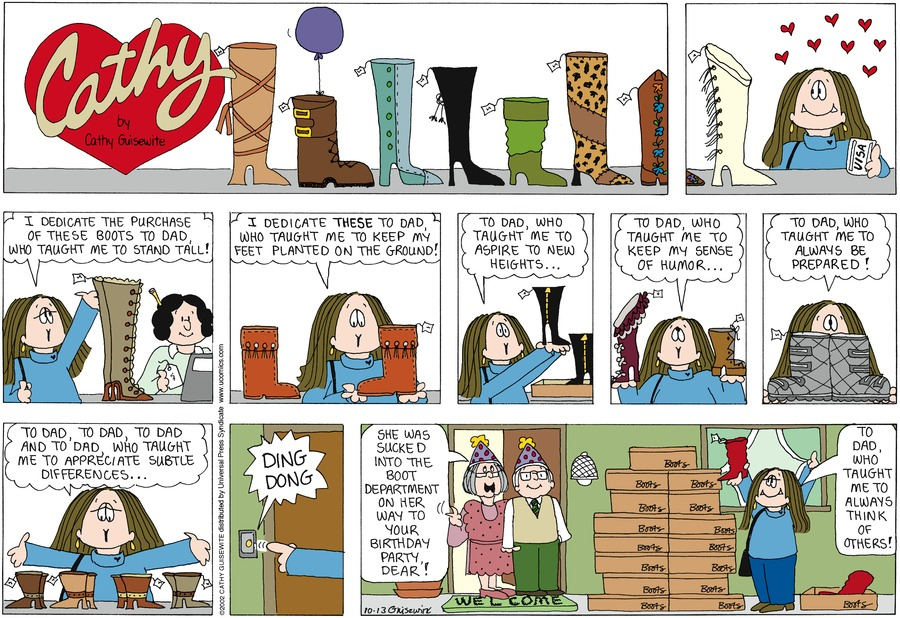 Cathy for Oct 13, 2002 Comic Strip