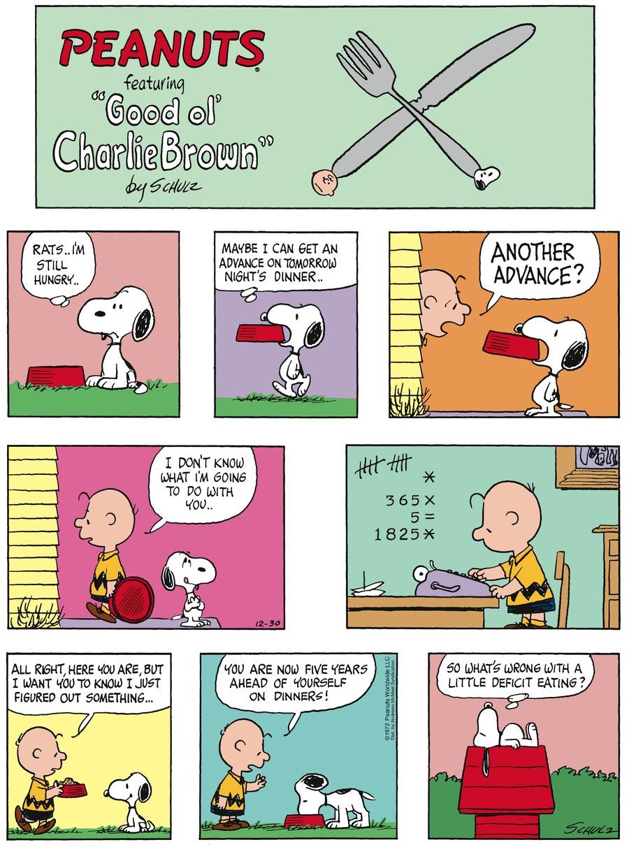 Peanuts Comic Strip for December 30, 2018