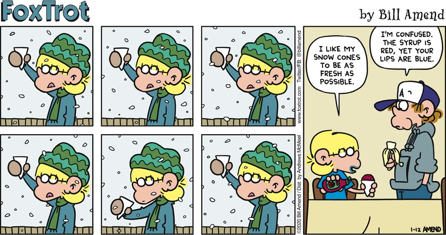 FoxTrot Comic Strip for January 12, 2020