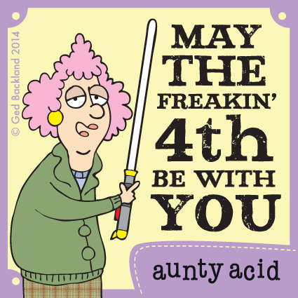 Aunty Acid for May 4, 2014 Comic Strip