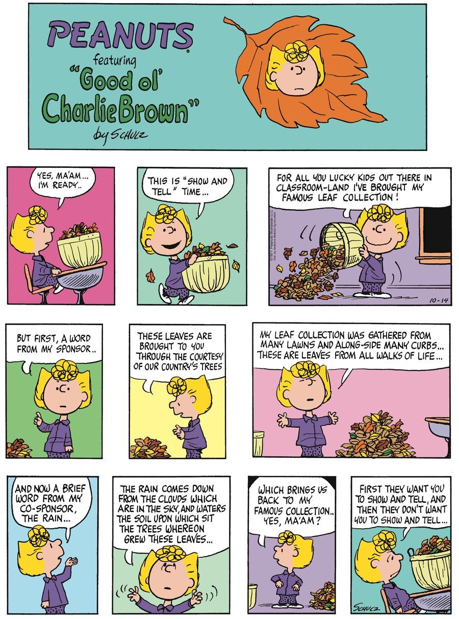 Peanuts Comic Strip for October 14, 2018