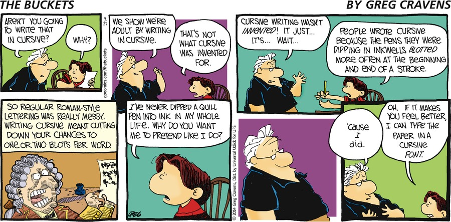 The Buckets for Apr 27, 2014 Comic Strip