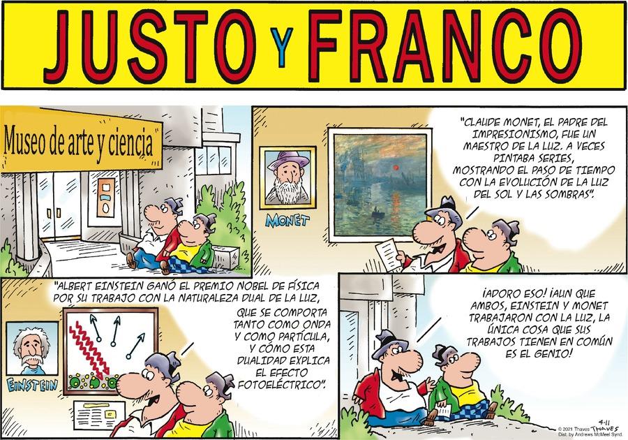 Justo y Franco Comic Strip for April 11, 2021