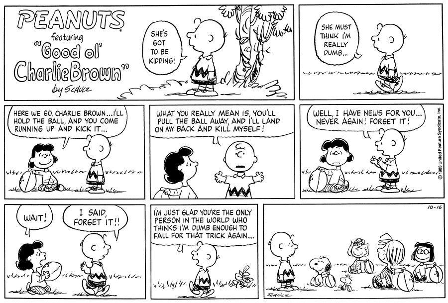 Peanuts Comic Strip for October 16, 1983