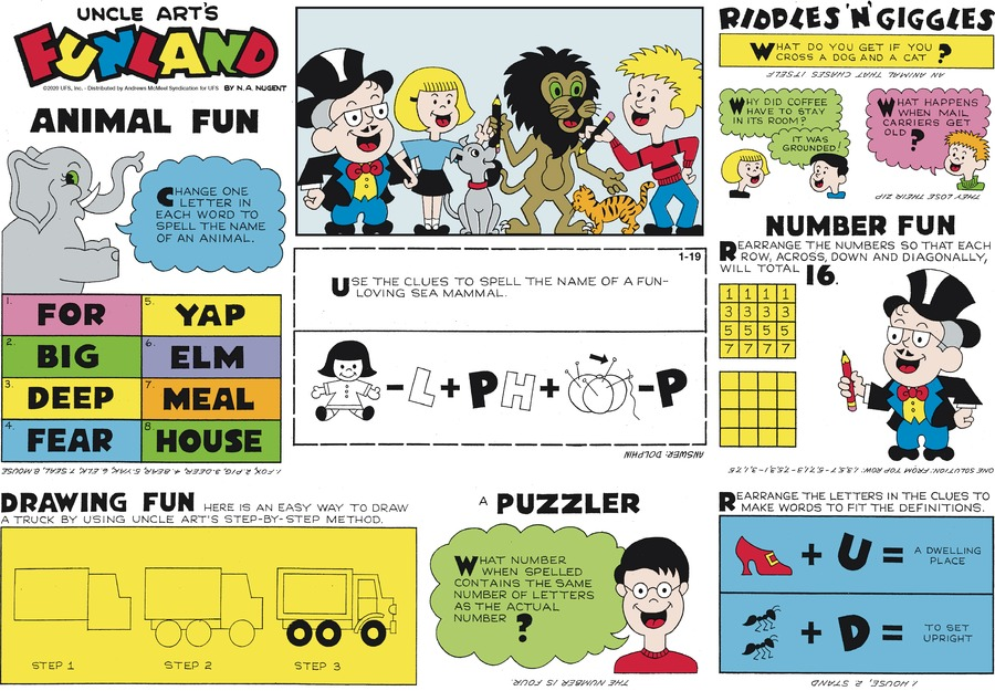 Uncle Art's Funland Comic Strip for January 19, 2020