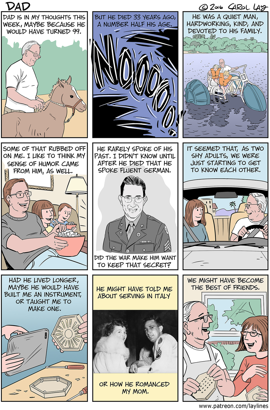 Lay Lines Comic Strip for October 26, 2016