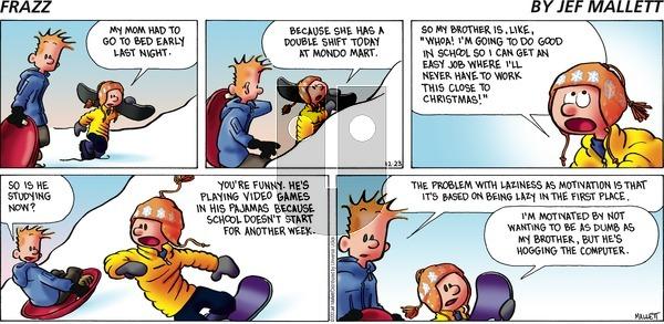 Frazz on Sunday December 23, 2012 Comic Strip