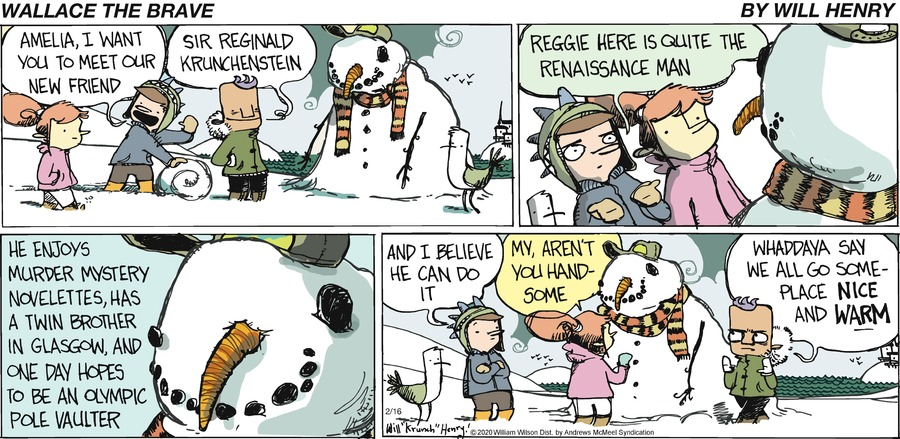Wallace the Brave Comic Strip for February 16, 2020
