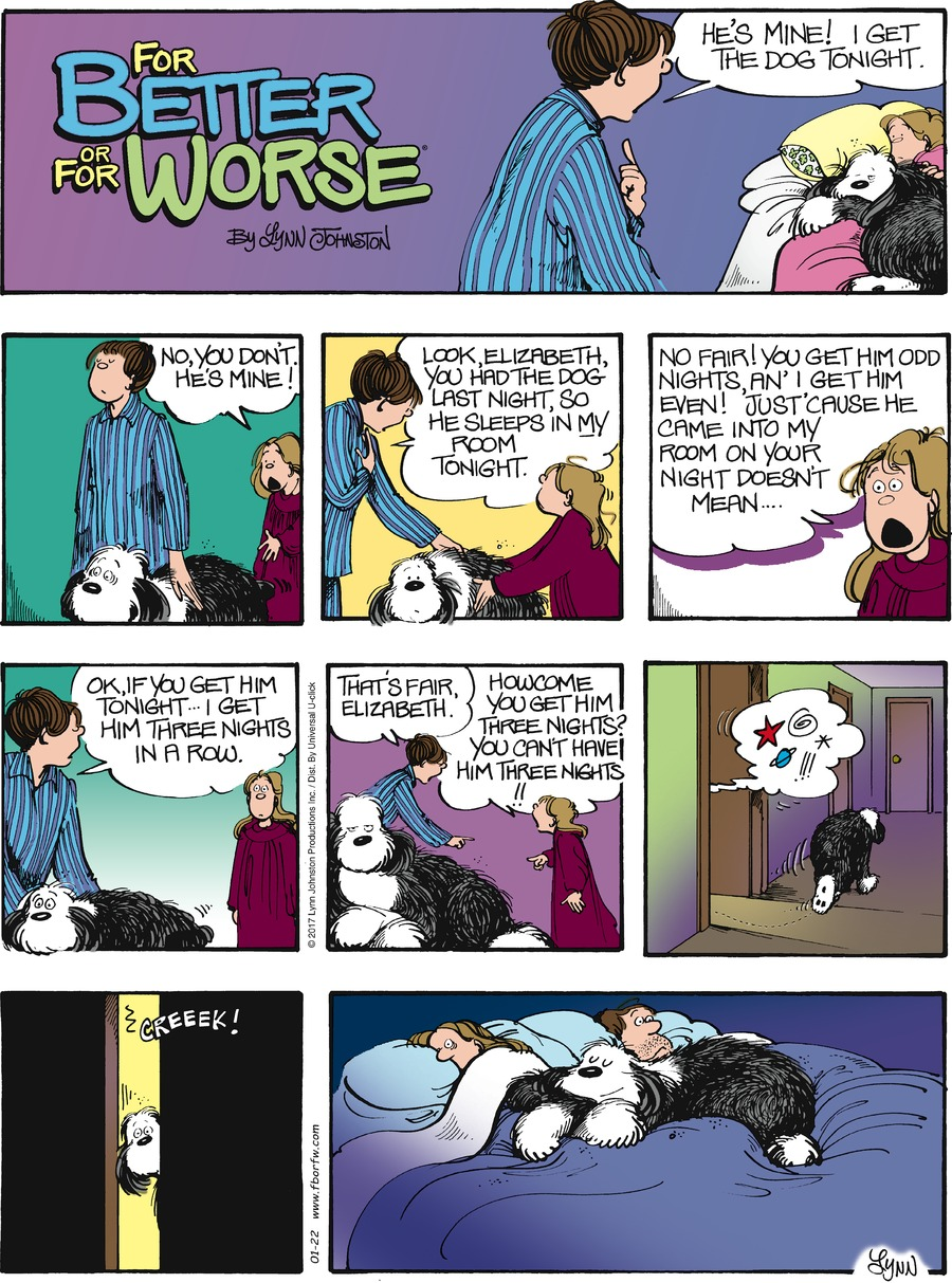 For Better or For Worse Comic Strip for January 22, 2017