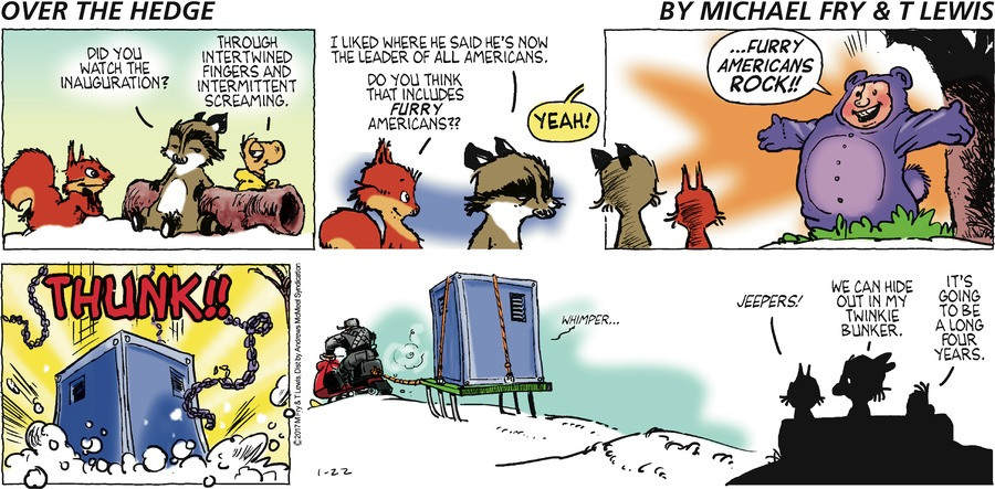 Over the Hedge Comic Strip for January 22, 2017