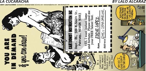 La Cucaracha on Sunday February 8, 2015 Comic Strip