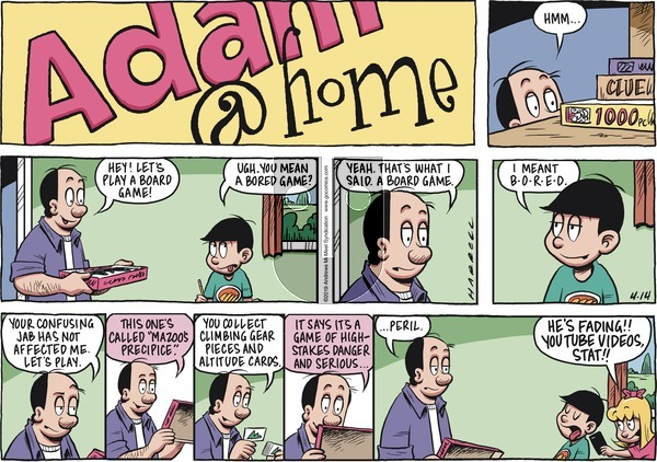 Adam@Home on Sunday April 14, 2019 Comic Strip