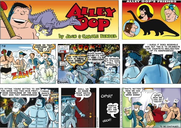 Alley Oop on Sunday July 8, 2018 Comic Strip