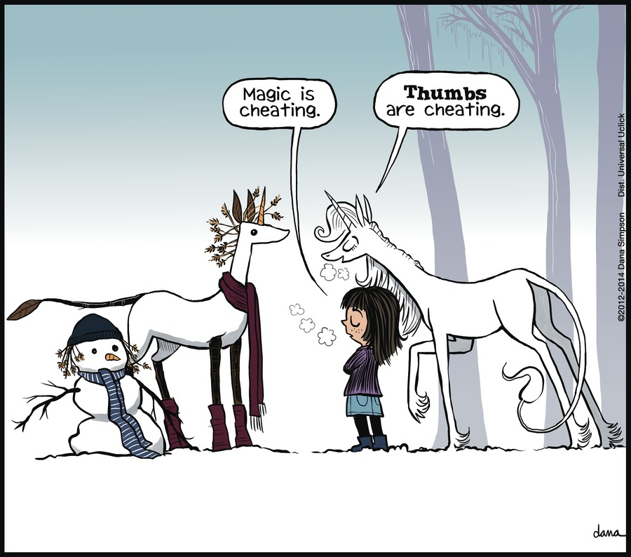 Phoebe and Her Unicorn for Dec 28, 2014 Comic Strip