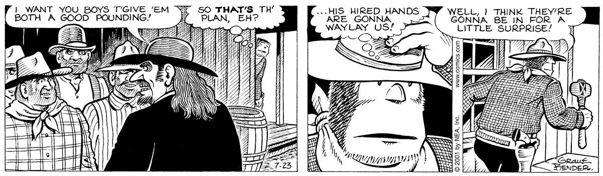 Alley Oop for Jul 23, 2001 Comic Strip