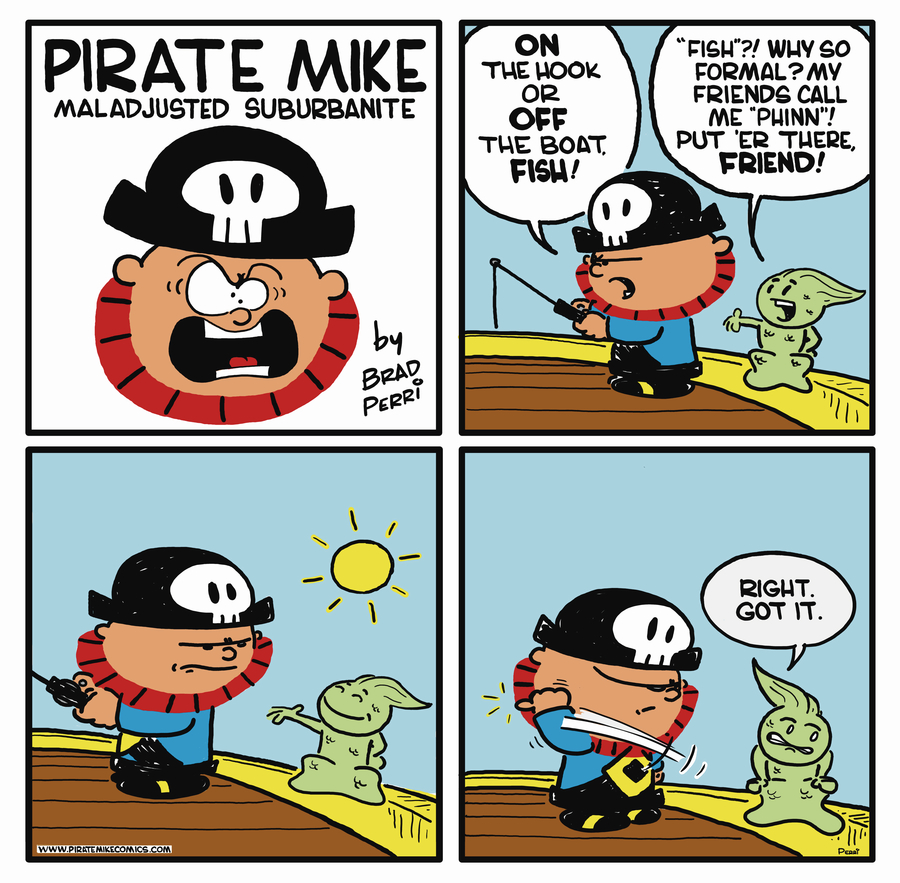 Pirate Mike Comic Strip for July 18, 2019