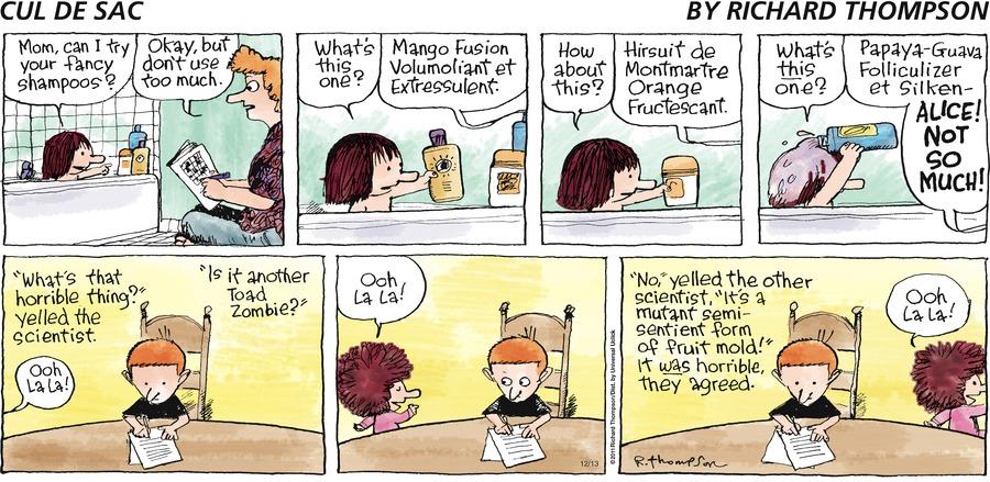 Cul de Sac Comic Strip for December 13, 2015