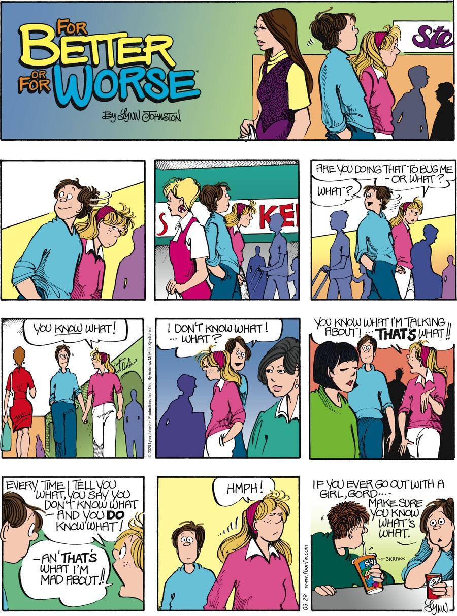For Better or For Worse Comic Strip for March 29, 2020